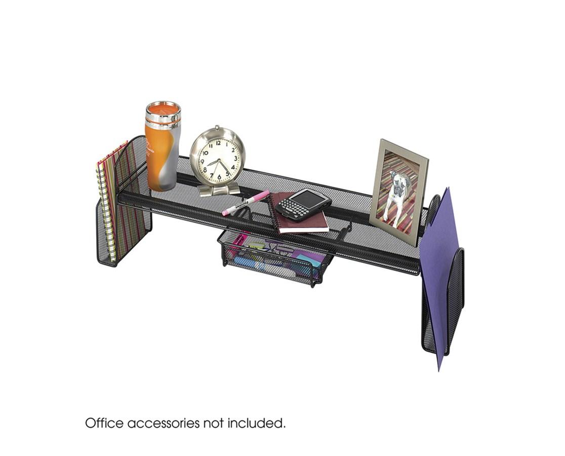 SAFCO3604BL-Onyx™ Mesh Off-Surface Shelf Black SAF3604BL
