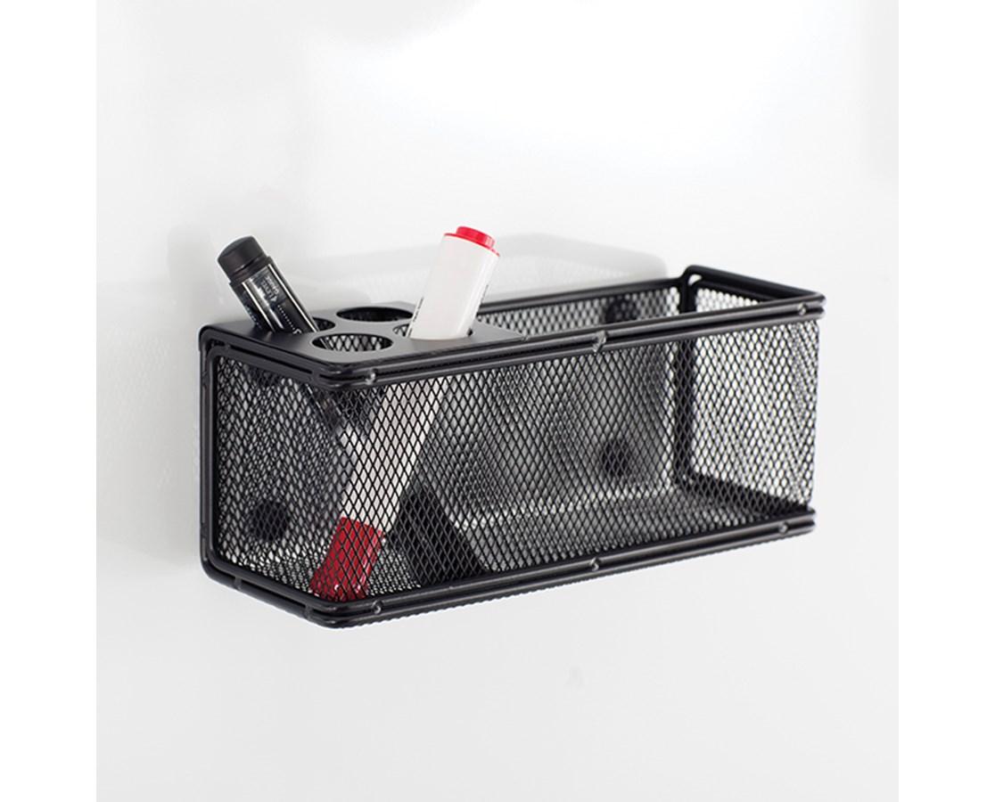 Safco Onyx Mesh Marker Organizer with Basket SAF3612BL