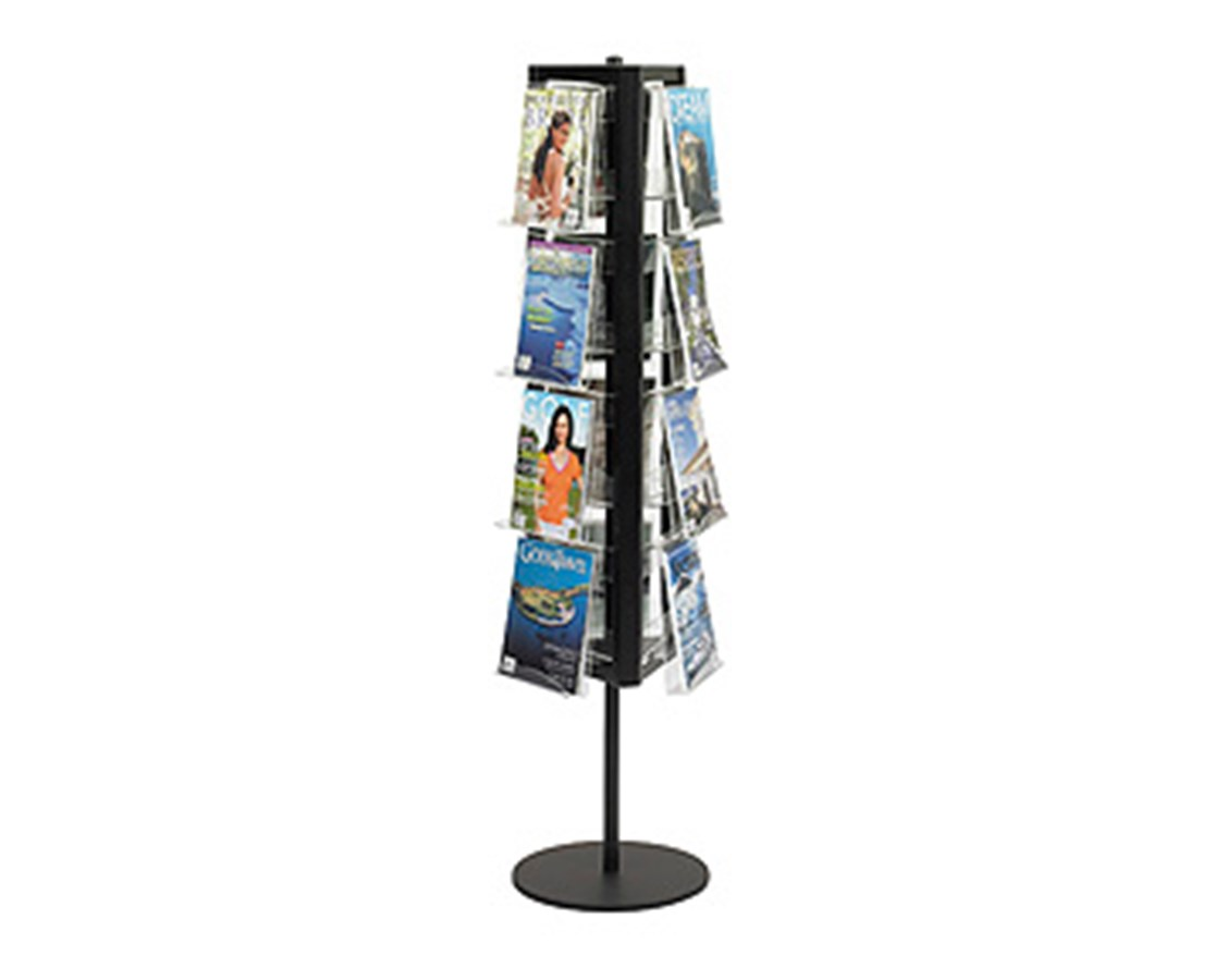 SAFCO4113BL-In-View™ Rotary Literature Display Black SAF4113BL