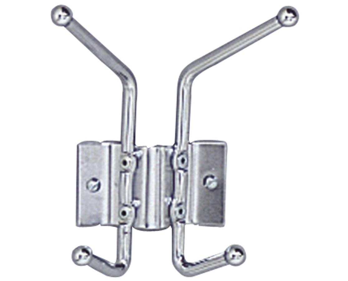 SAFCO4160-Wall Rack Coat Hook, 2-Hook (Qty.12) SAF4160