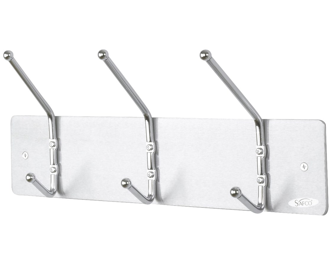Safco Wall Rack Coat Hook, 3-Hooks (Qty.12) SAF4161