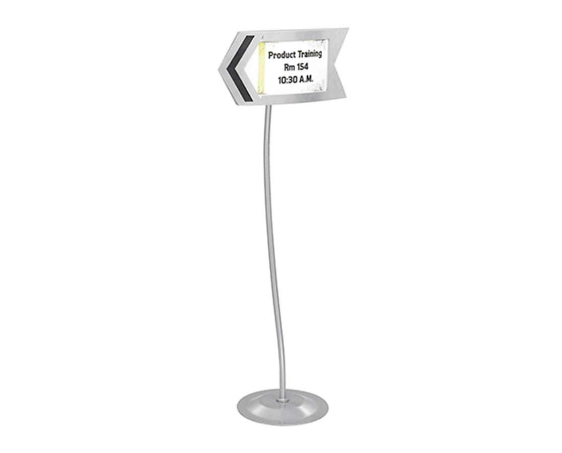 SAFCO4169GR-Customizable Arrow Sign Gray SAF4169GR