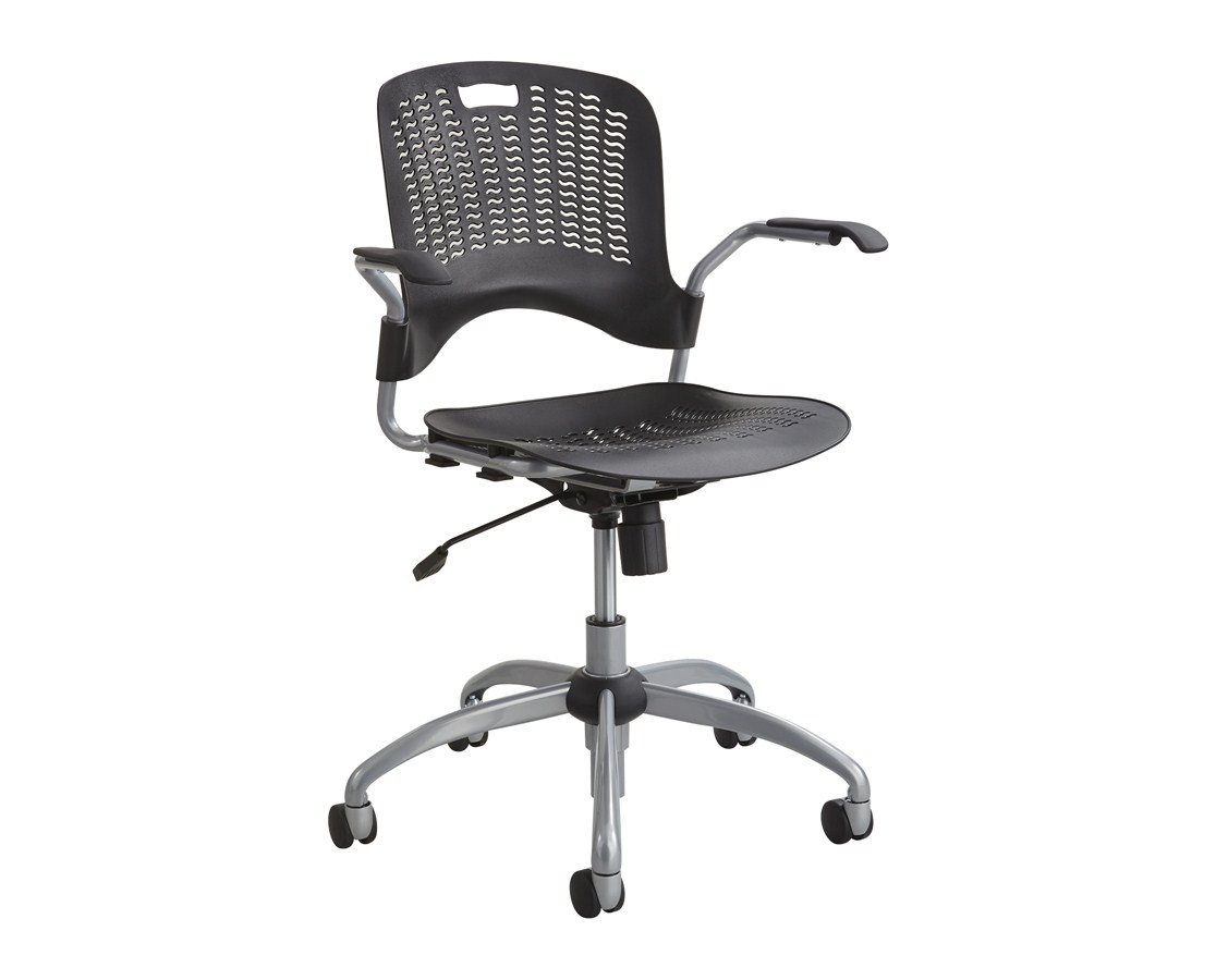 Safco Sassy Pierced Plastic Swivel Office Chair 4182BL