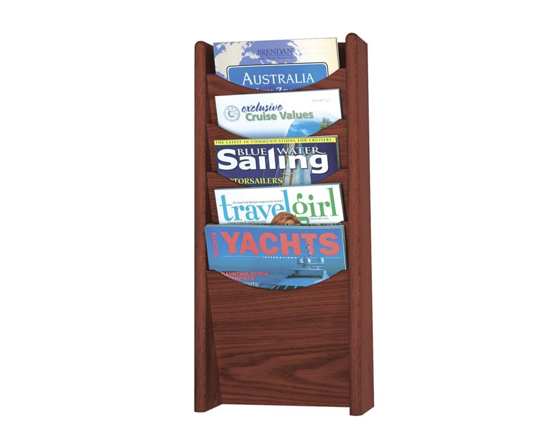 SAFCO4330-5-Pocket Wood Magazine Rack SAF4330