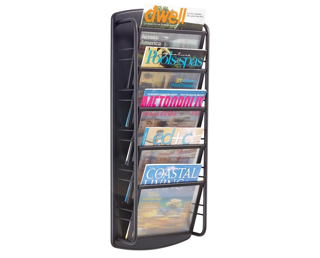 SAFCO5579BL-10-Pocket Onyx™ Magazine Rack SAF5579BL