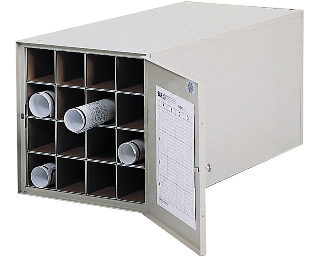Safco Steel Roll File 38in 16 Compartment 4960