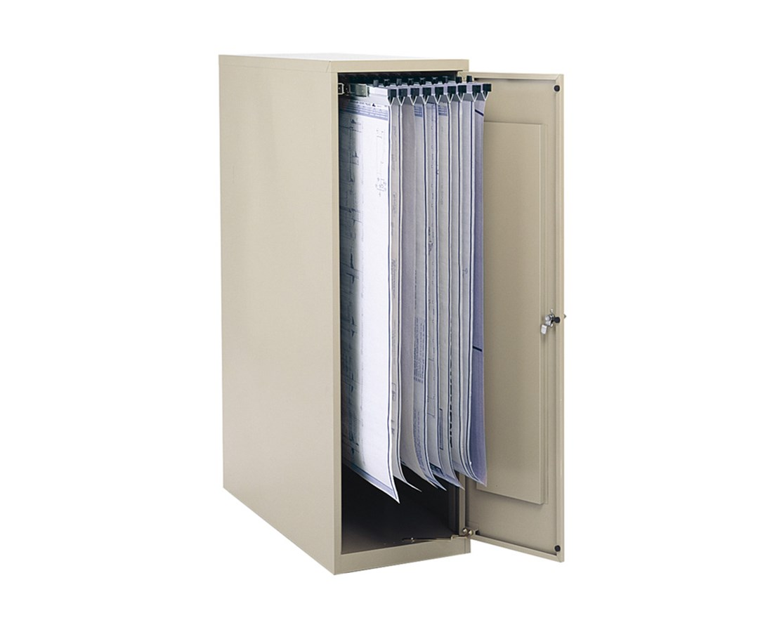 Safco Large Vertical Blueprint Storage Cabinet 5041