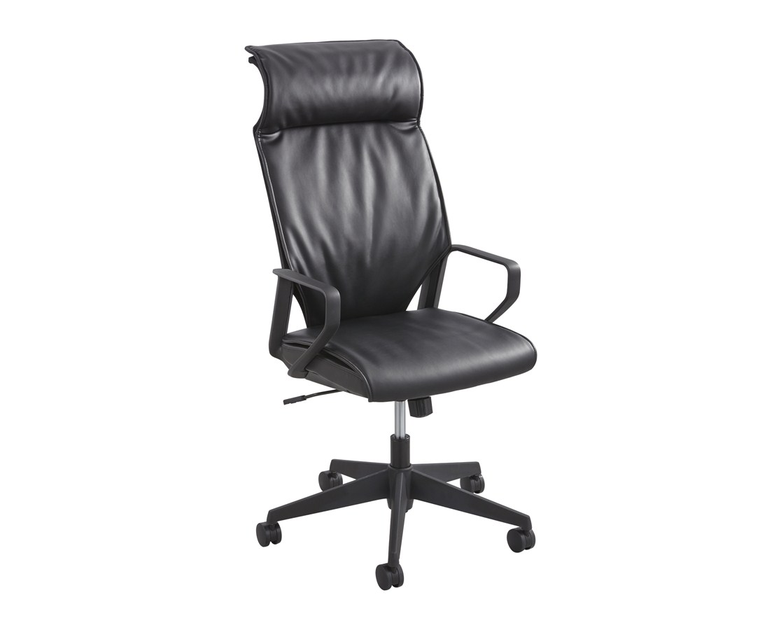 Safco Priya Leather High Back Executive Office Chair 5075BL