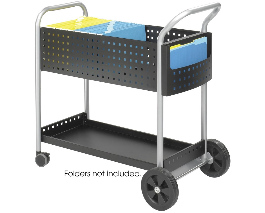 "Safco Scoot™ Mail Cart, 32""W SAF5239BL"