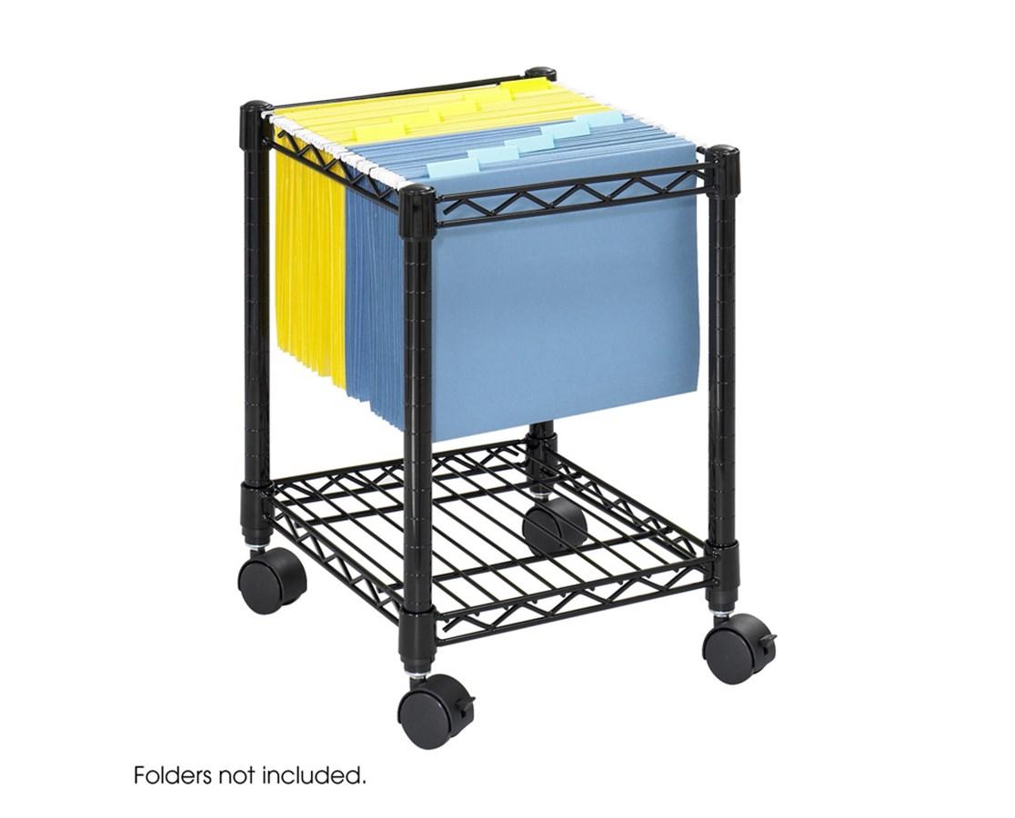 Safco Compact Mobile File Cart SAF5277BL