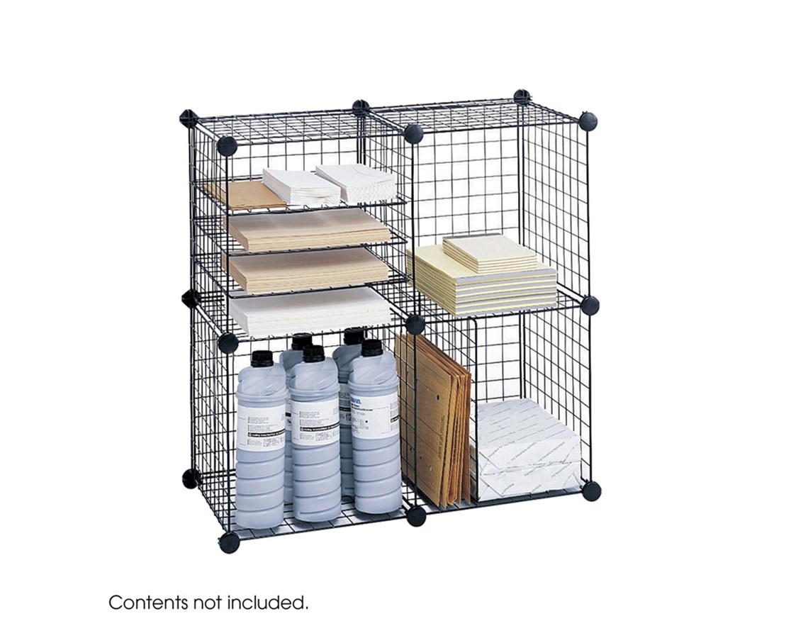 SAFCO5279BL-Wire Cubes Black SAF5279BL