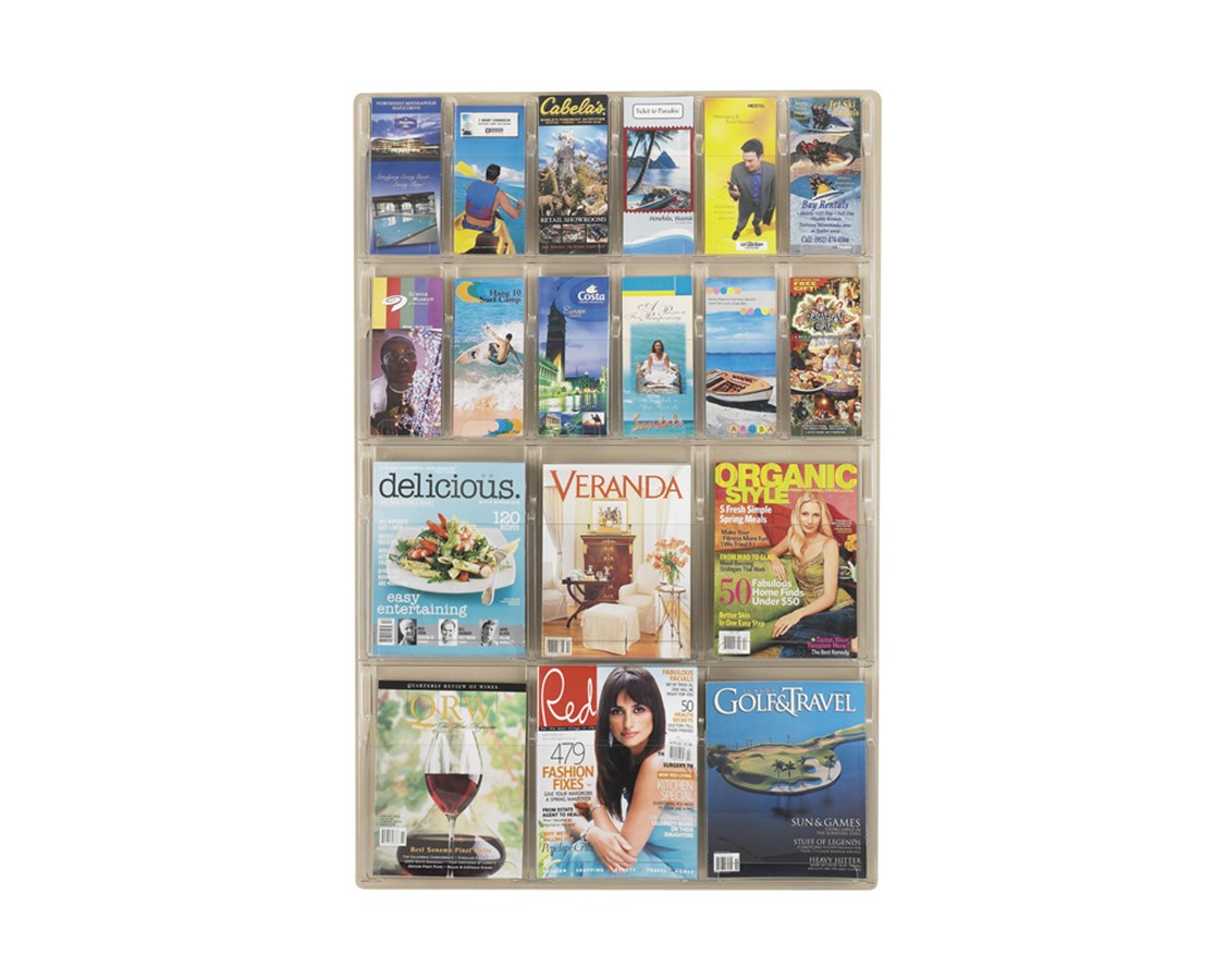 SAFCO5600CL-Reveal™ 6 Magazine and 12 Pamphlet Display Clear SAF5600CL