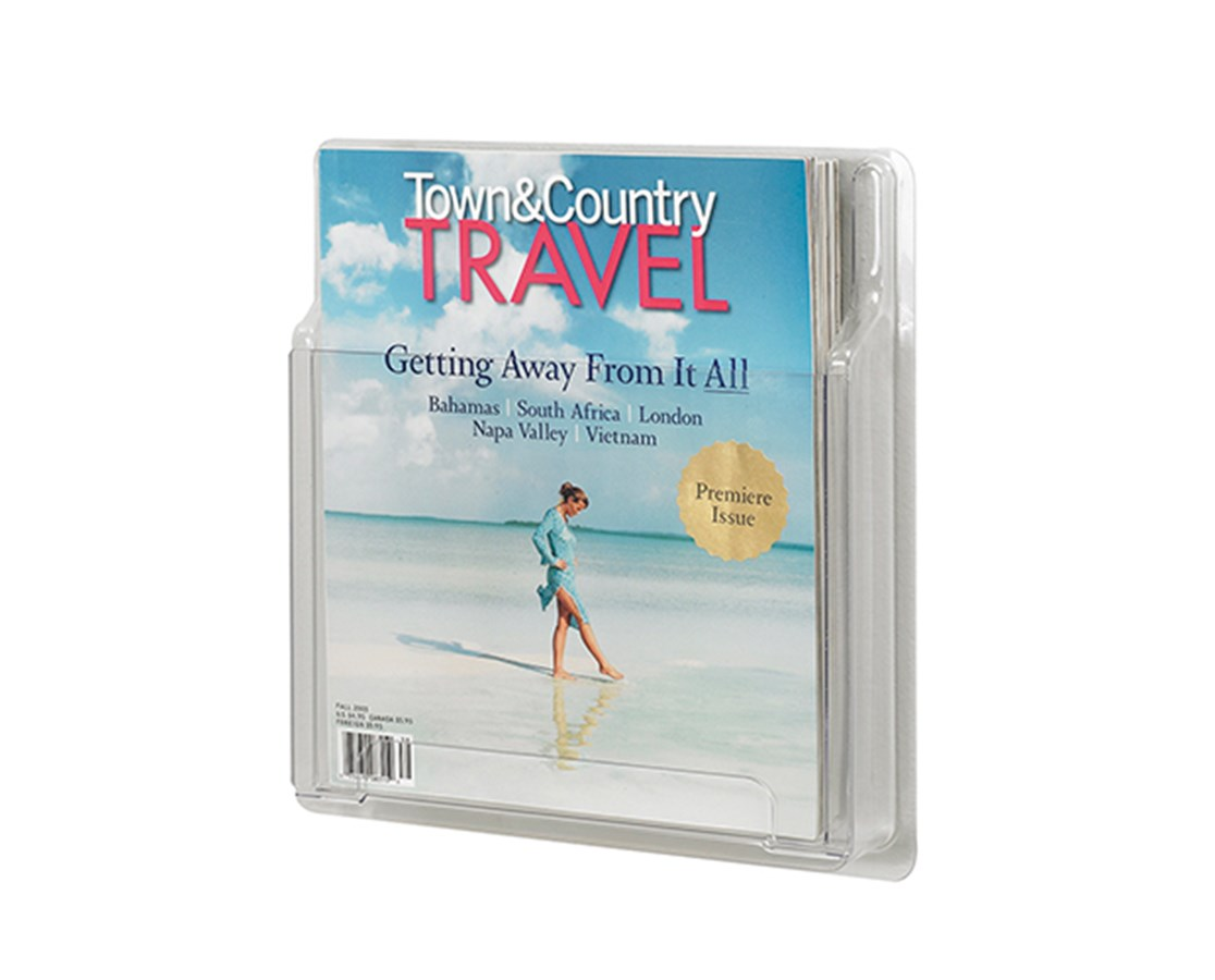 SAFCO5621CL-Reveal™ 1 Magazine Display Clear SAF5621CL