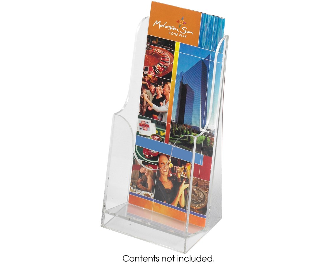 SAFCO5637CL-Acrylic Single Pocket Pamphlet Display (Qty 6) Clear SAF5637CL