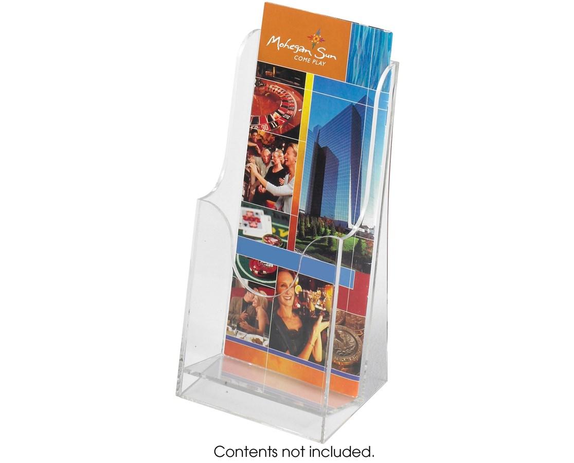 Safco Acrylic Single Pocket Pamphlet Display (Qty. 6) SAF5637CL