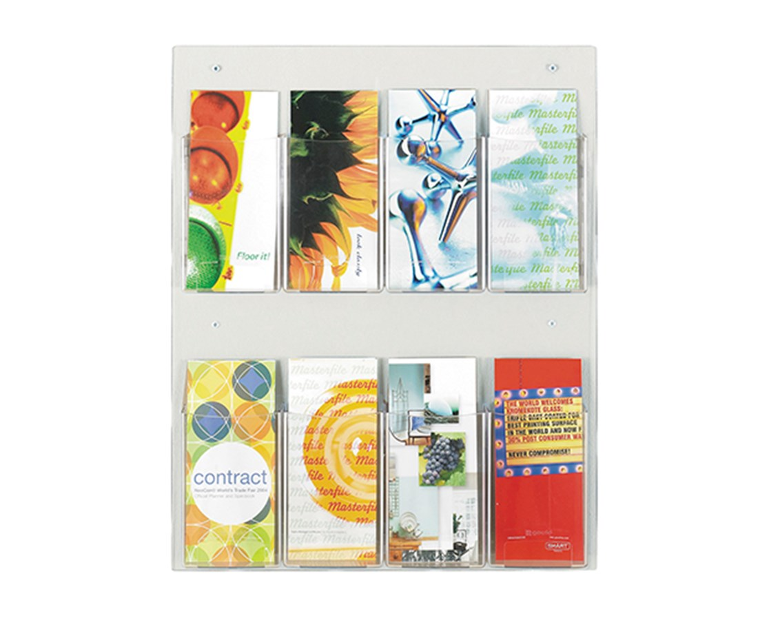 SAFCO5673CL-Clear2c™ 8 Pamphlet Display Clear SAF5673CL