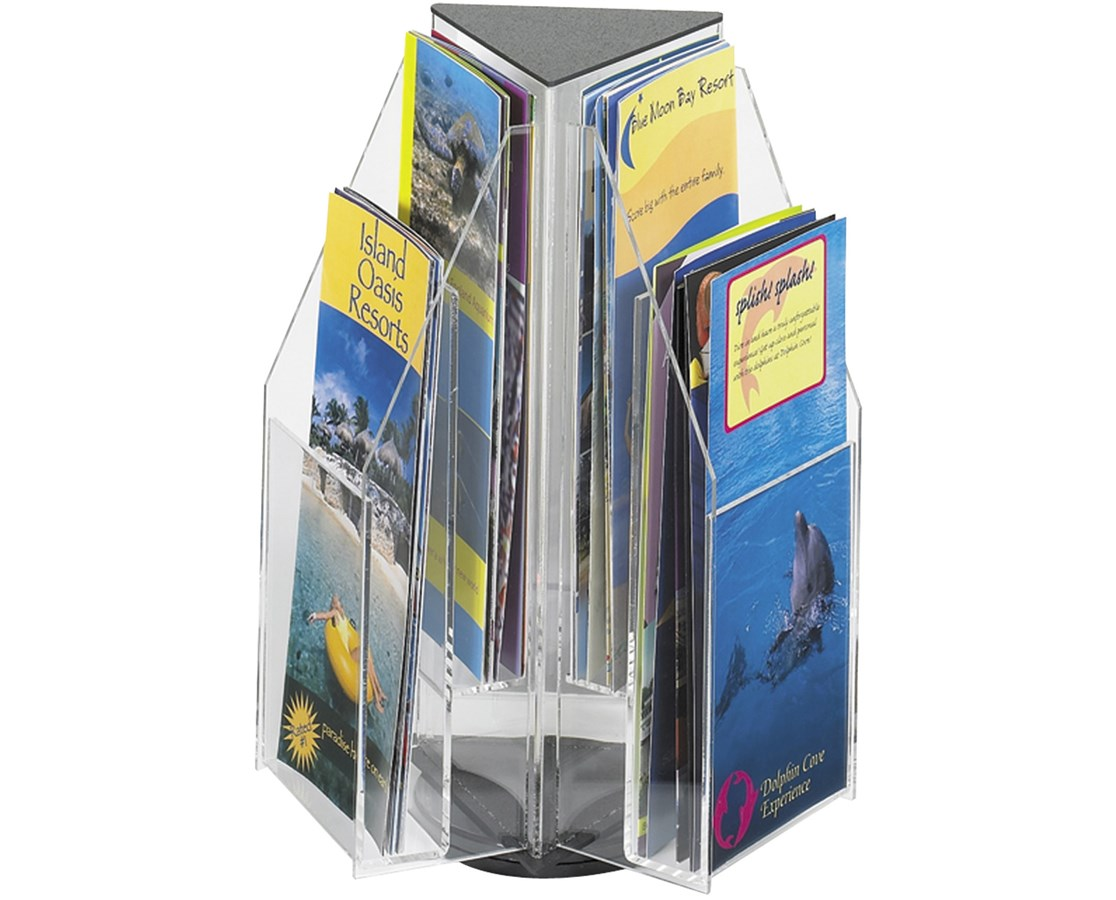 SAFCO5697CL-Reveal™ 6 Pamphlet Tabletop Displays Clear SAF5697CL