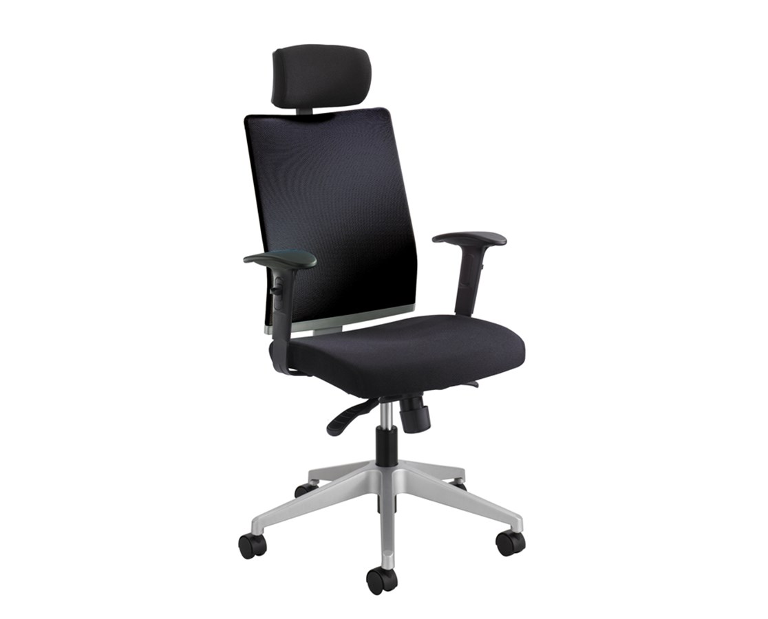 Safco Tez Managers Office Chair with Headrest 7030BL