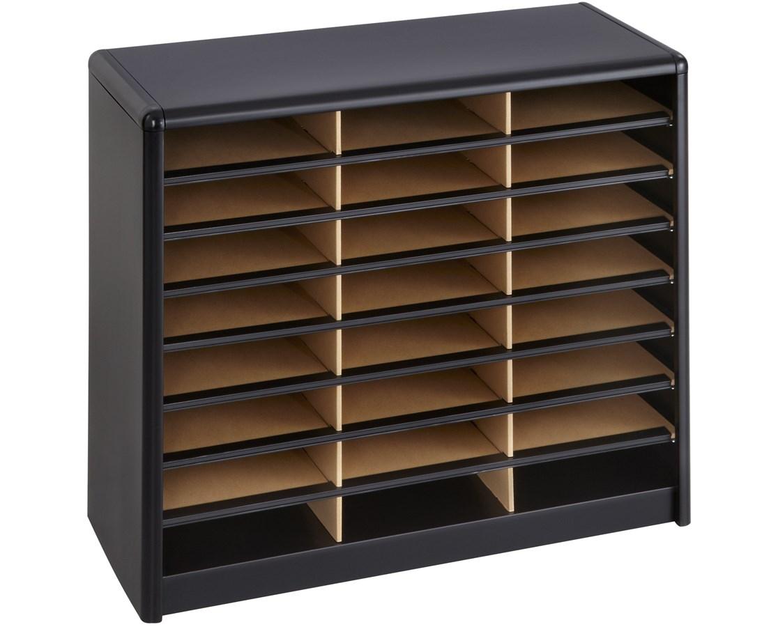 Safco Value Sorter Literature Organizer, 24 Compartment SAF7111BL