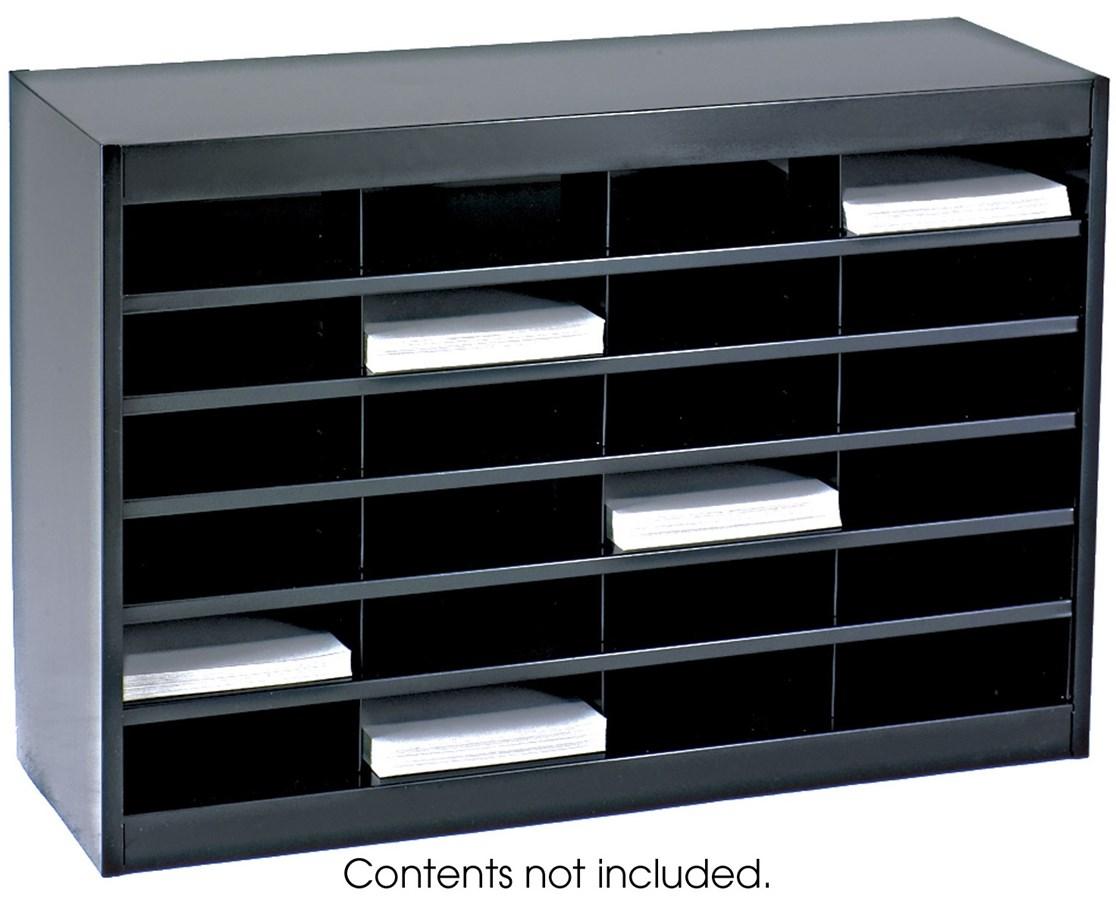 Safco E-Z Stor Literature Organizer, 24 Letter Size Compartments SAF9211BLR