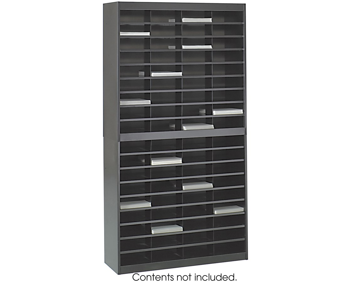 SAF9241-E-Z Stor® Literature Organizer, 72 Letter Size Compartments SAF9241