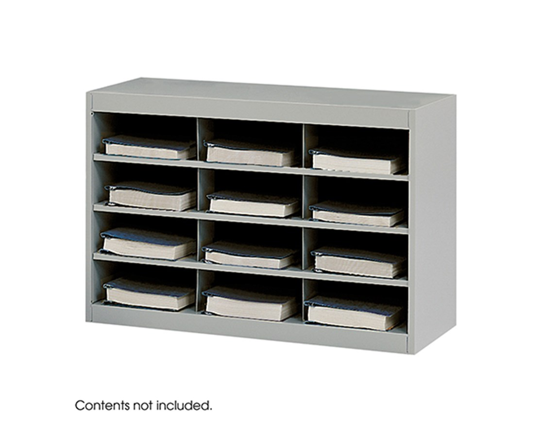 SAFCO9254GR-E-Z Stor® Steel Project Organizer, 12 Compartments Gray SAF9254GR