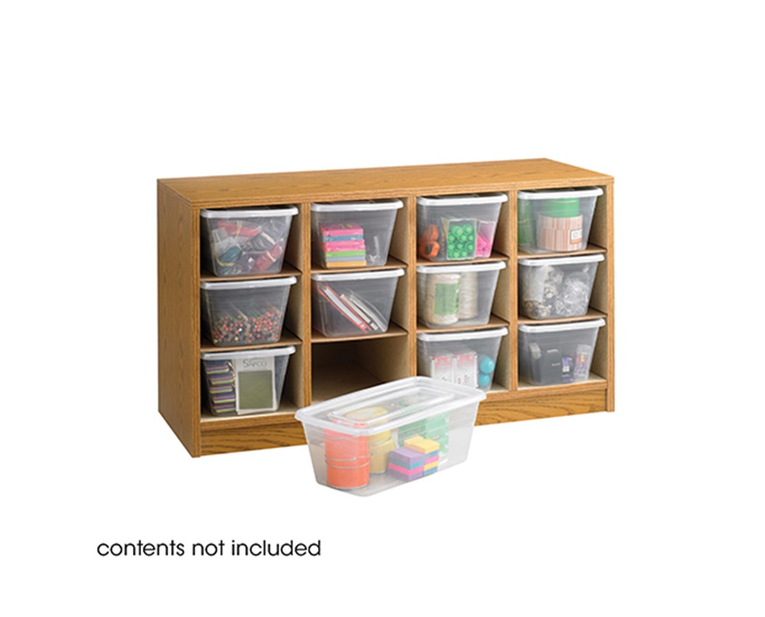 SAFCO9452MO-Supplies Organizer Medium OaK SAF9452MO