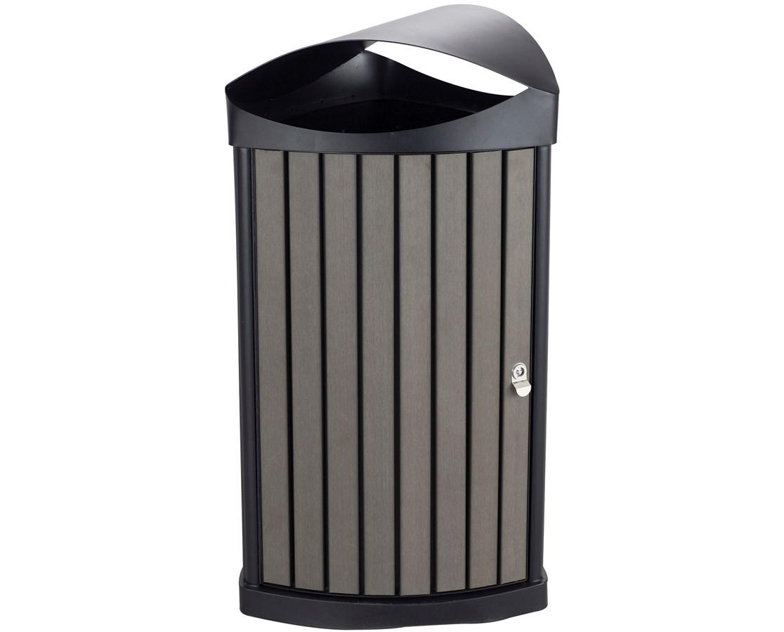 Safco Nook Indoor/Outdoor Waste Receptacle SAF9969CH