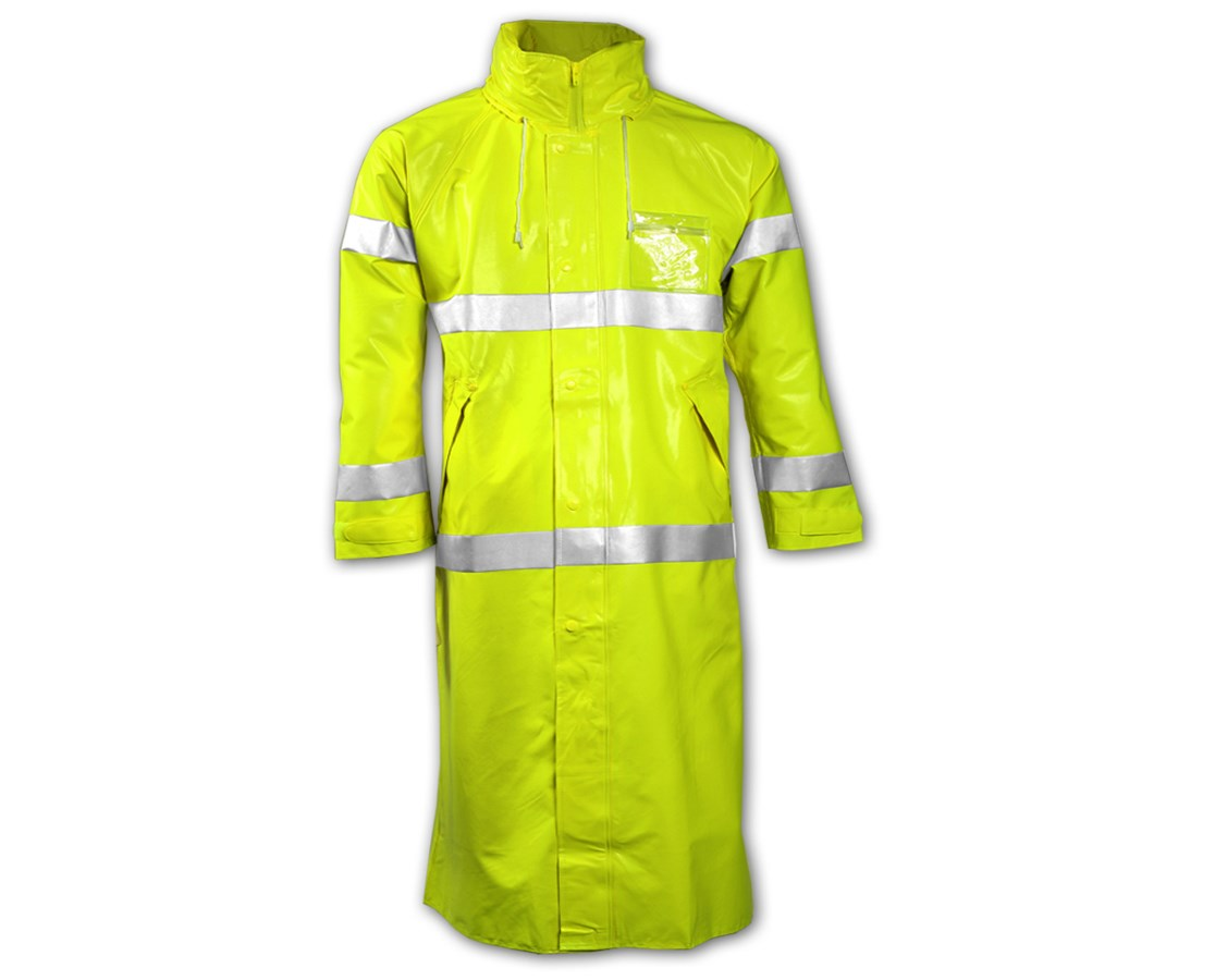 Comfort-Brite General Purpose Rain Coat Fluorescent Yellow - Green