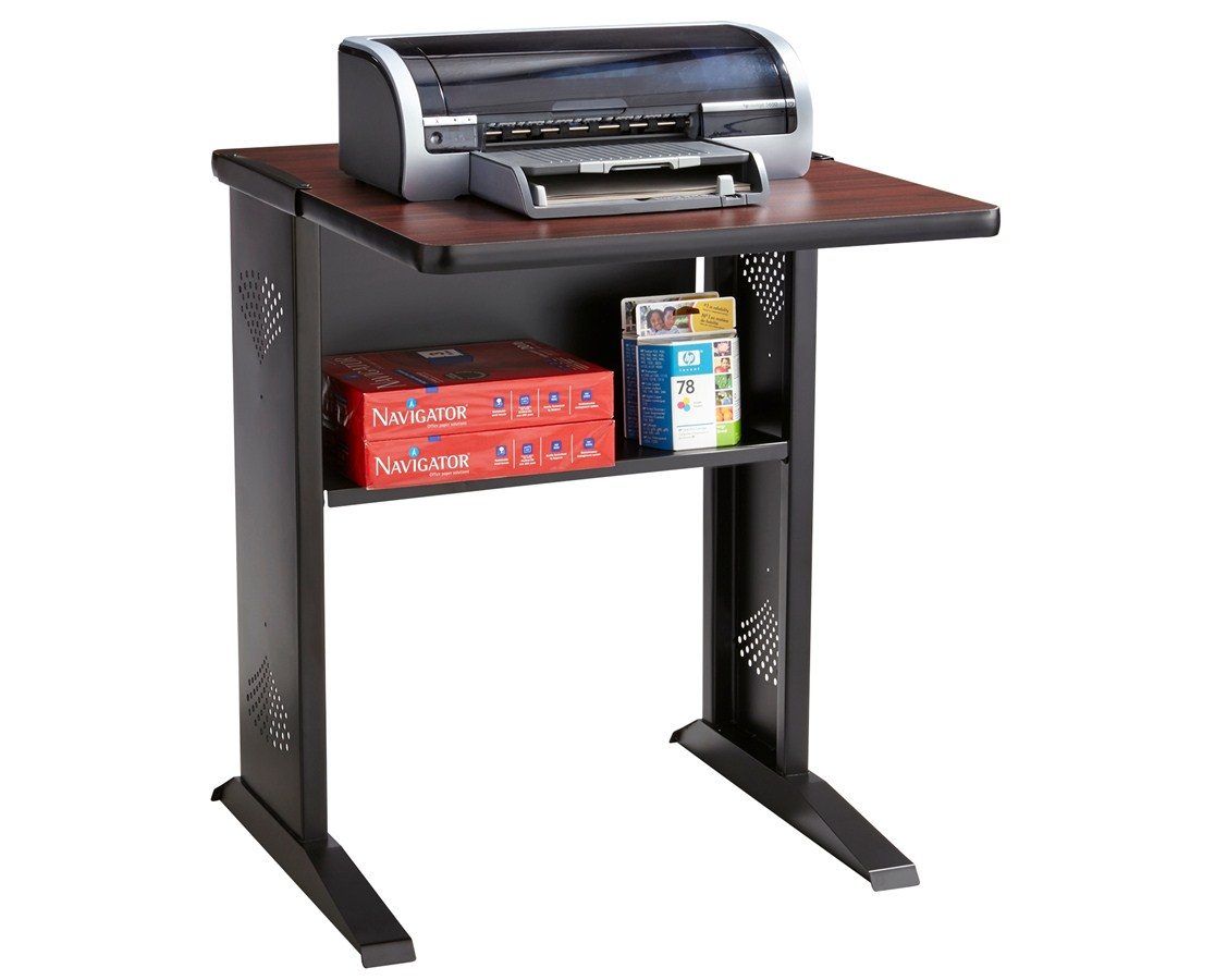 SAFCO1934-Reversible Top Fax/Printer Stand Mahogany or Medium Oak, reversible SAF 1934