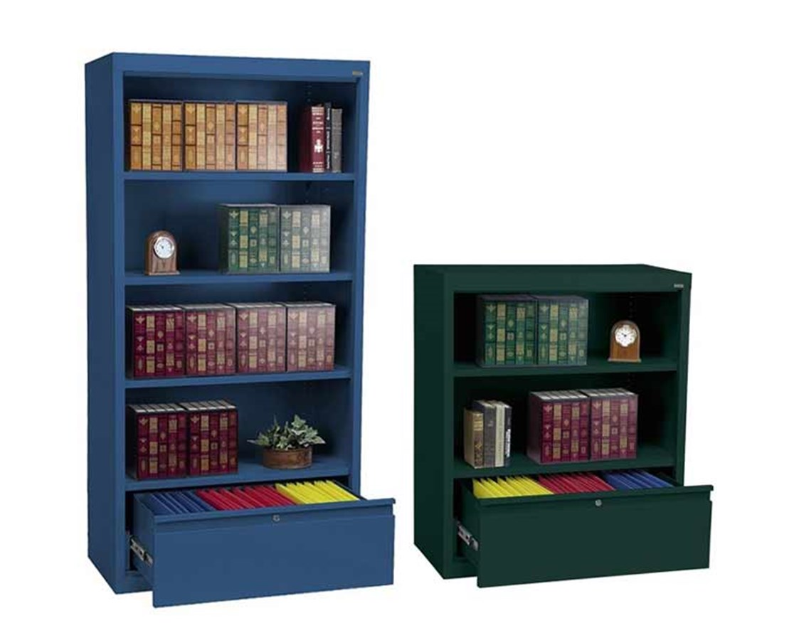 Sandusky Lee Bookcase with File Drawer SANBD10361842-01
