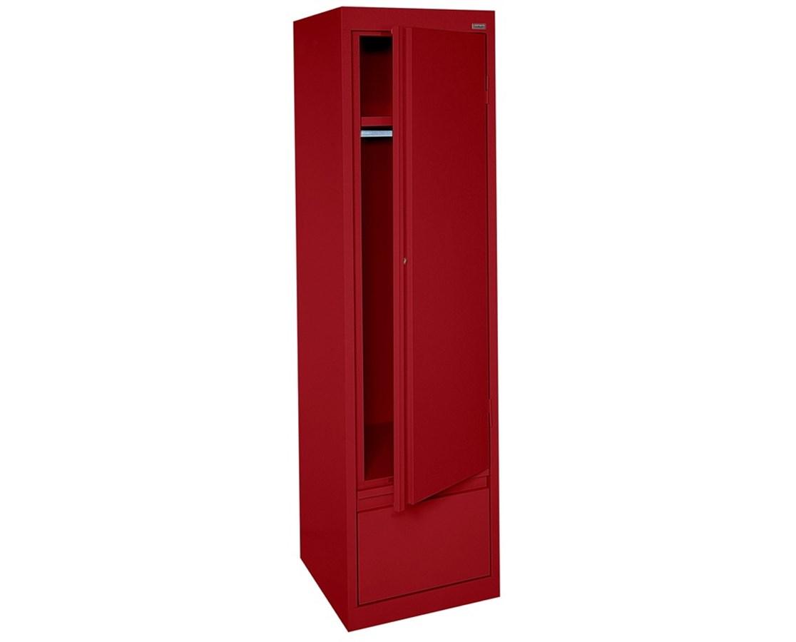 Sandusky Lee System Series Single Door Wardrobe with Drawer SANHAWF171864-01-