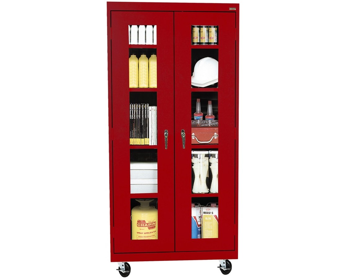 Sandusky Lee Transport Cabinet with Clear View Doors SANTA4V361872-01-