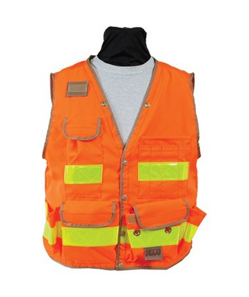 Seco 8069-Series Class 2 Surveyors Utility Vest with Mesh Back SECO8069
