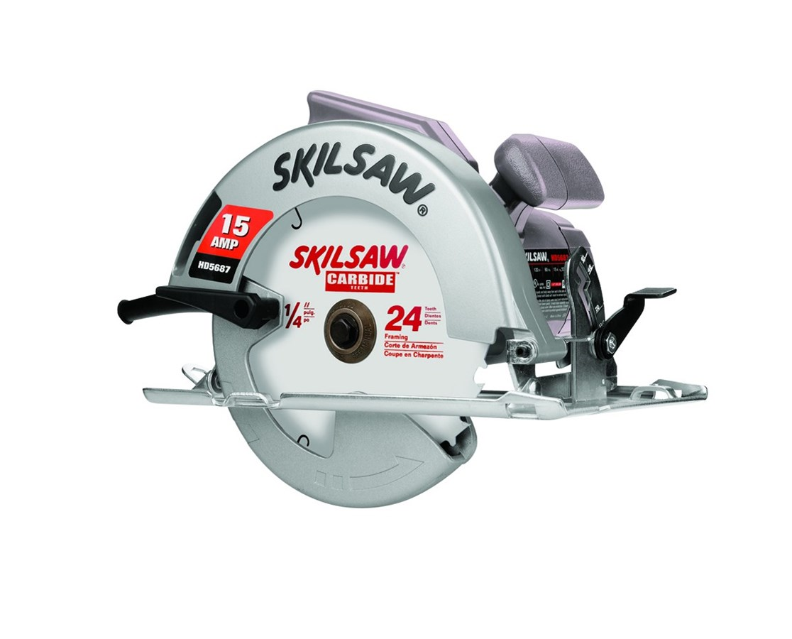 """Skil HD5687M-01 7-1/4"""" Magnesium 15 Amp Skilsaw with 24T Carbide Blade and Spindle Lock SKIHD5687M-01"""