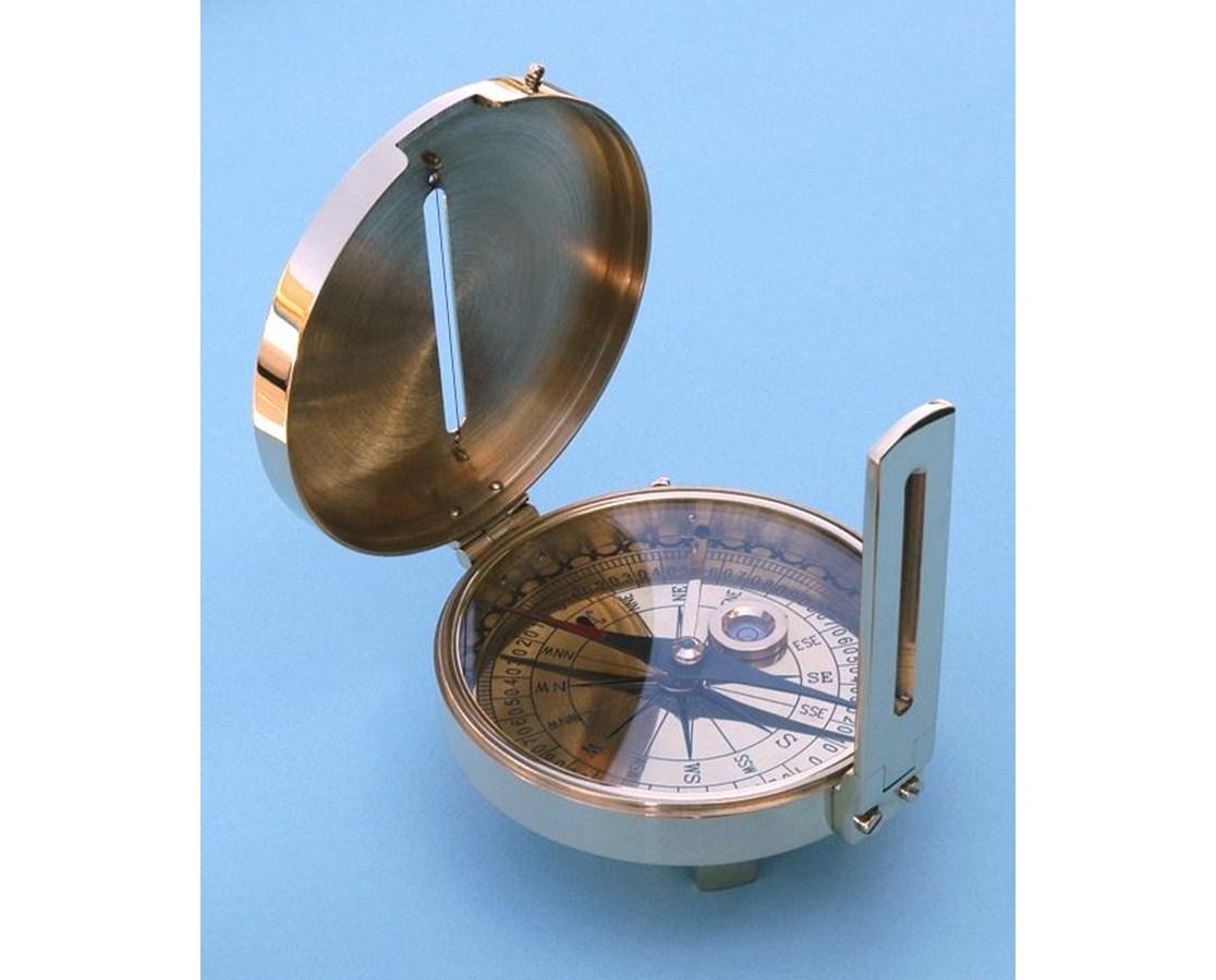 Solid Brass Surveyor's Compass SLSBSC