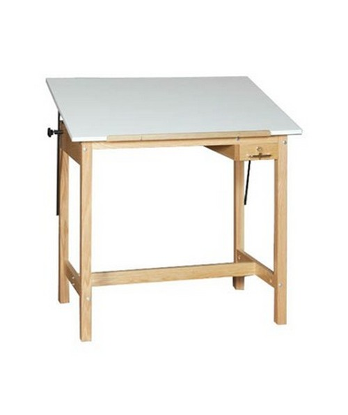 SMI Pacific Unfinished Oak Four Post Drawing Table U2436 30A