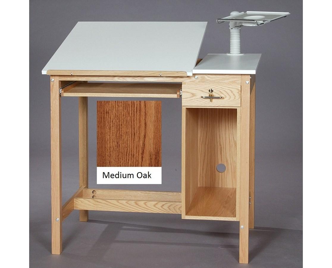 SMI Drafting Computer Table Medium Oak M3042-CT1