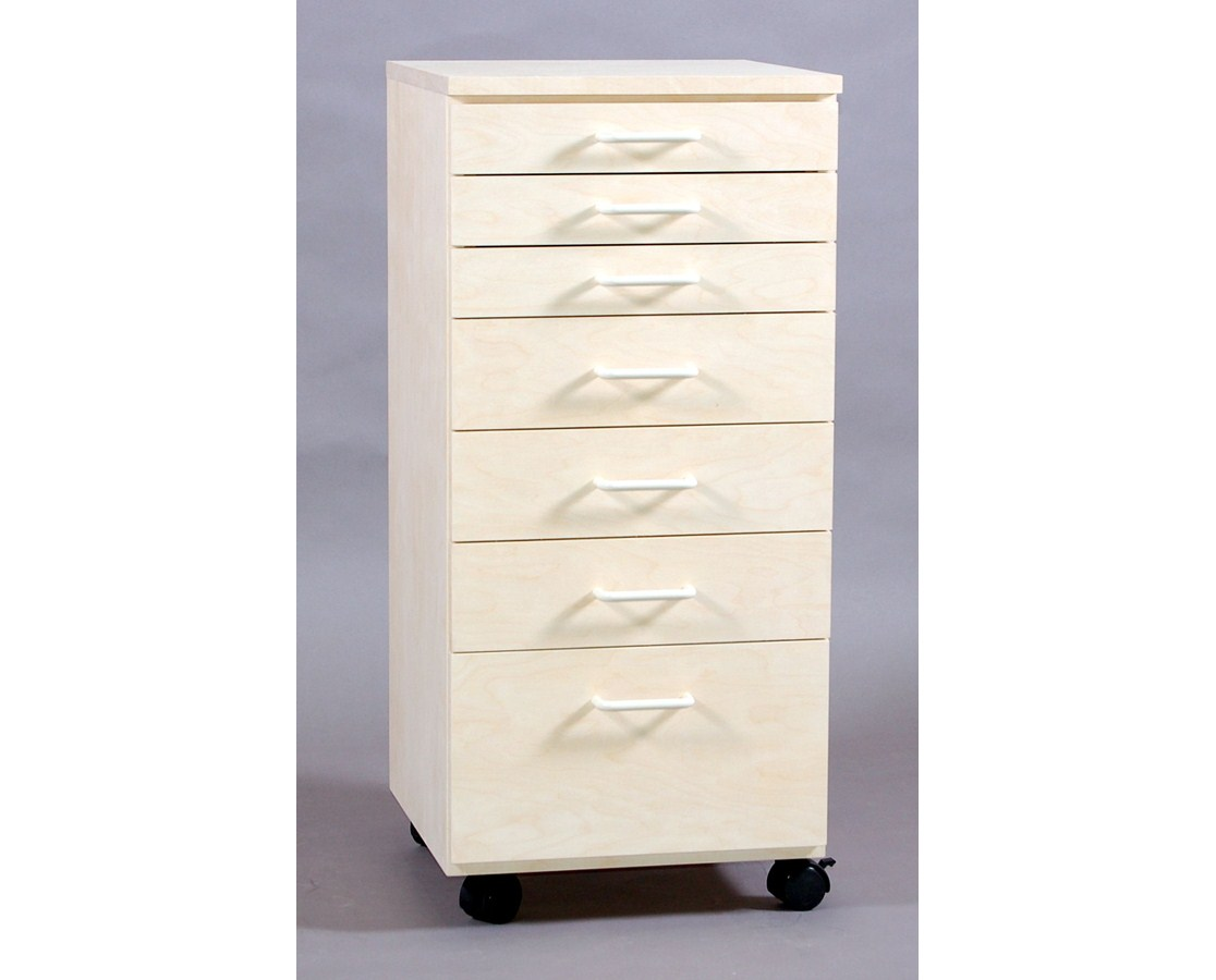 SMI 7 Drawer Tall Birch Taboret Vanguard Style TB700BT