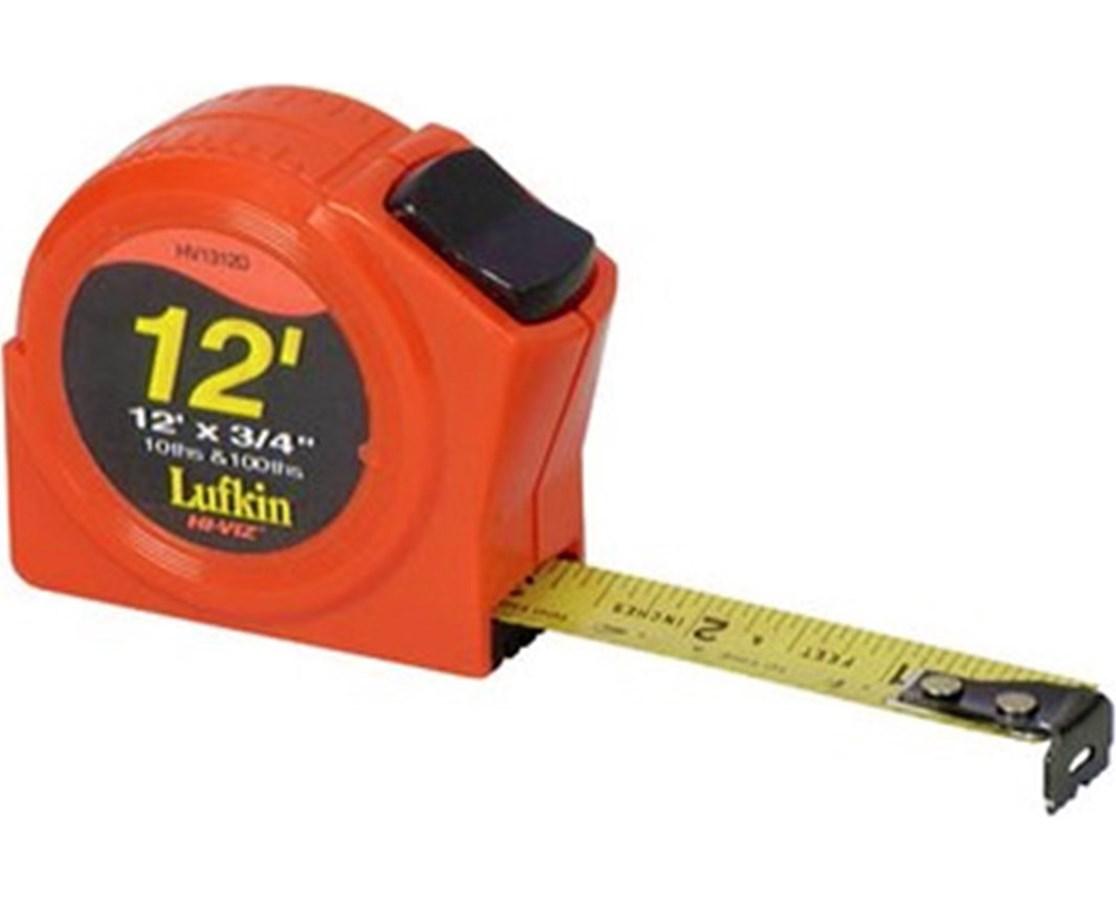 """Sokkia HV1312D 3/4""""x12' Hi Viz Power Tape SOK120134"""