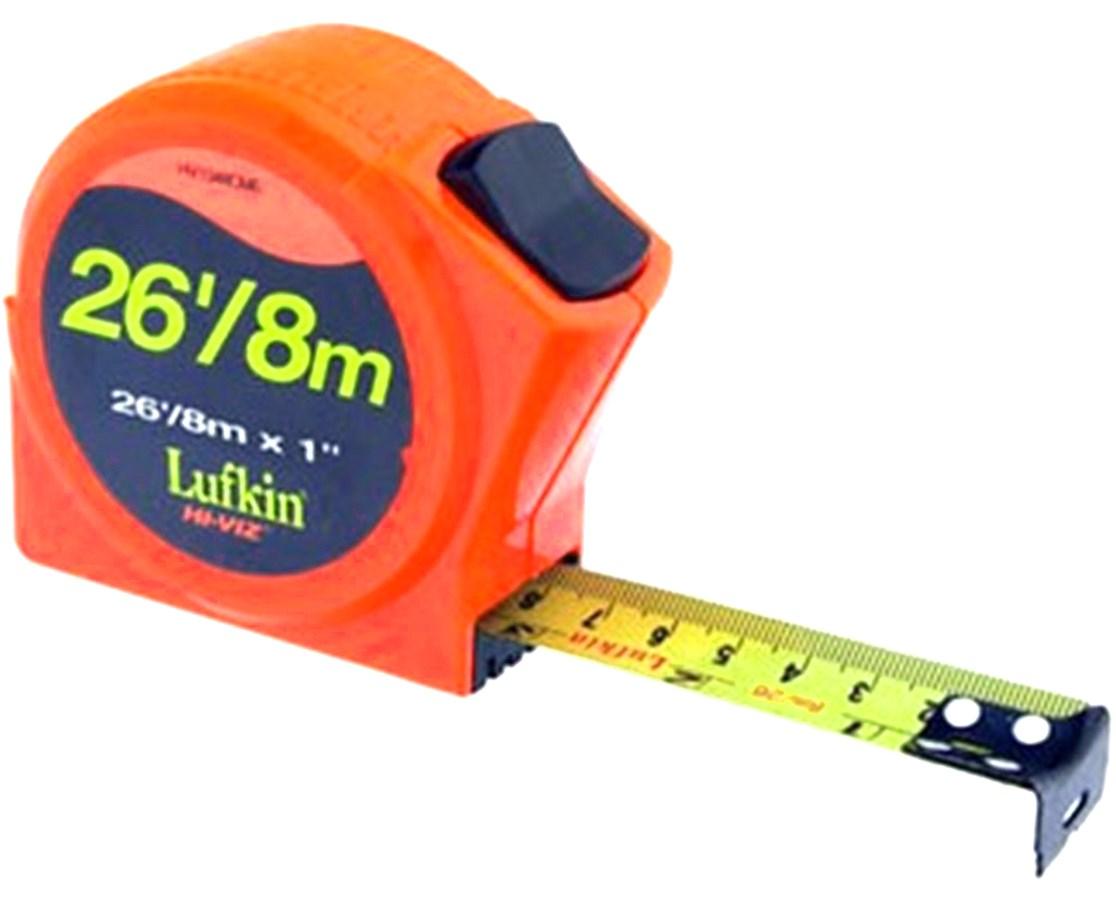"""Lufkin HV1048CME 1""""x26'/8m Series HV1000 Power Return Tape I/M SOK121915"""
