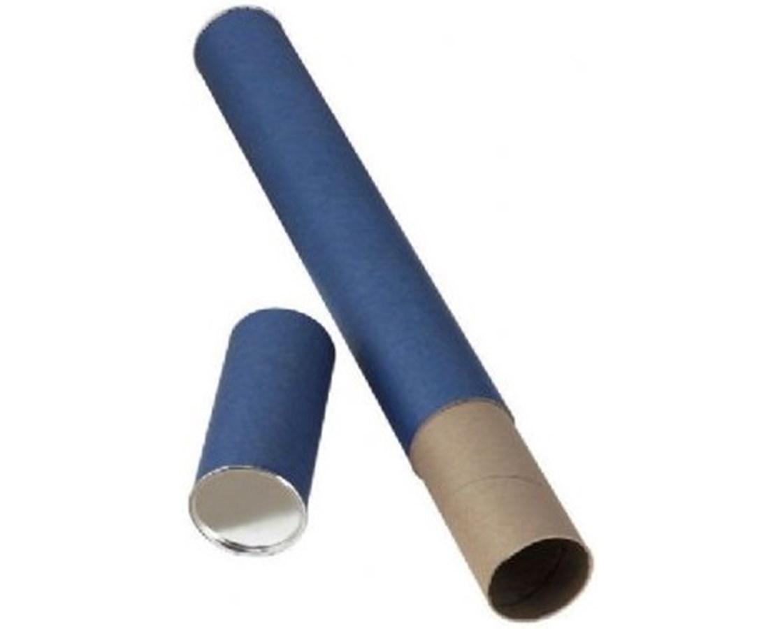 FIBERBOARD MAILING TUBE  BLUE T413-250