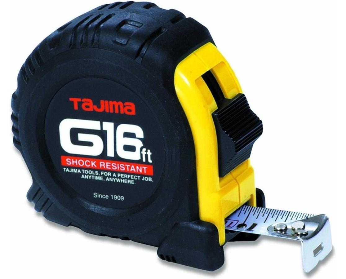 Tajima G-Series Standard Scale Shock Resistant Tape Measure TAJG-16BW-