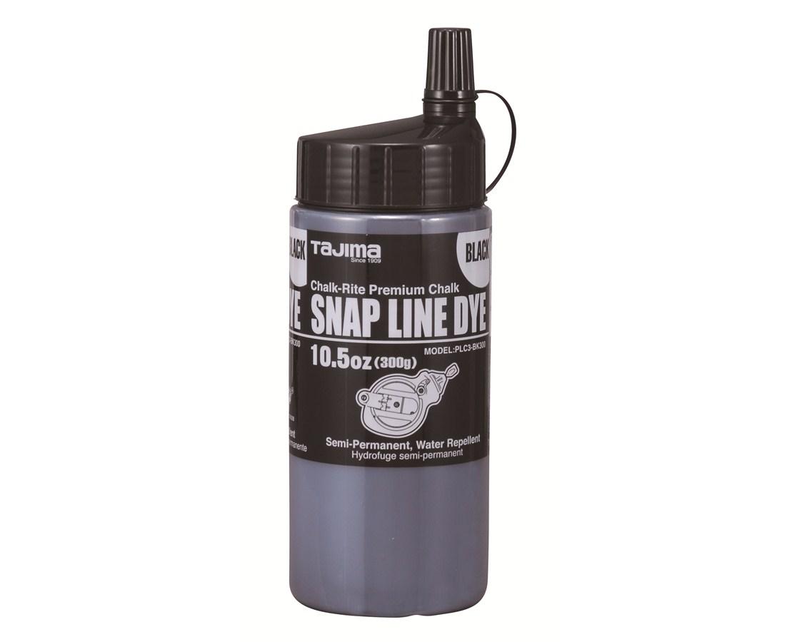 Tajima Snap Line Dye, permanent marking chalk, easy-fill nozzle, 300g /10.5 oz. TAJPLC3-BK300