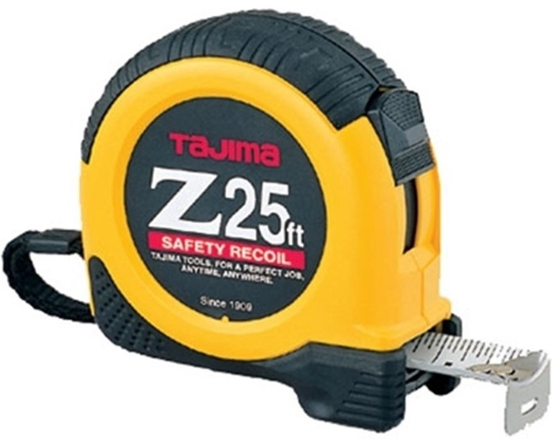 Tajima  Z-25 Dual Lock Tape Measure SAFZ-25BW