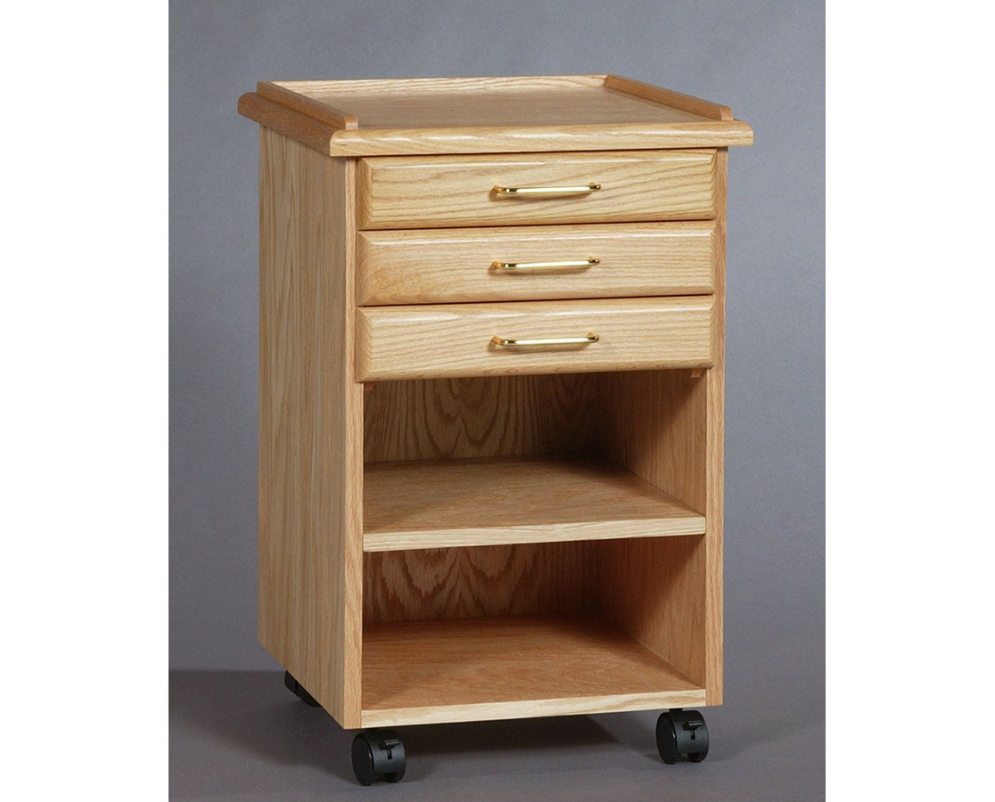 SMI 3 Drawer Oak Taboret Classic Style TB300
