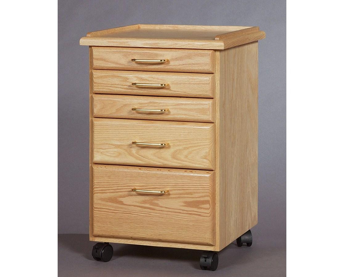 SMI 5 Drawer Oak Taboret Classic Style TB500