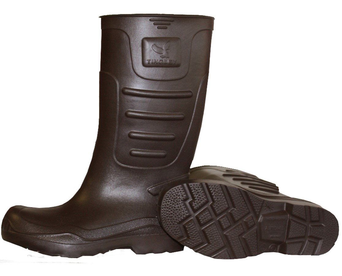 "KNEE BOOT (Ultra light weight) - 15"" - P.T. - Cleated - Brown TIN21144"