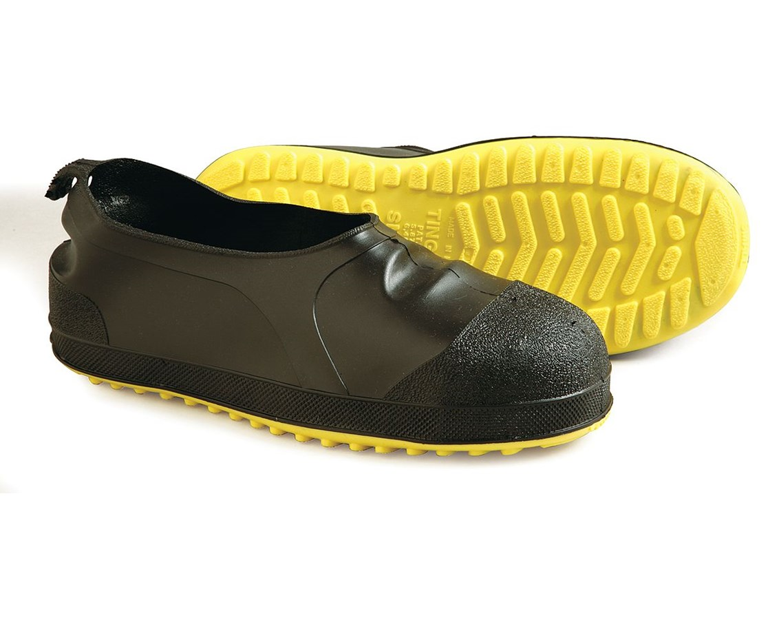 STEEL TOE OVERSHOE - Hi-Top - Black/Yellow TIN35211