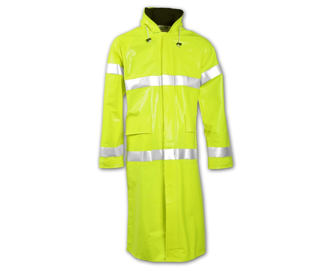 48 Inches Fluorescent Yellow Green Coat C42122